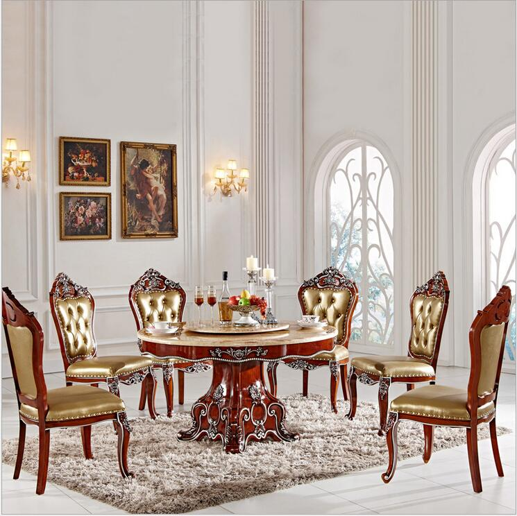 Tuscan Style Dining Room Furniture: Antique Style Italian Dining Table, 100% Solid Wood Italy
