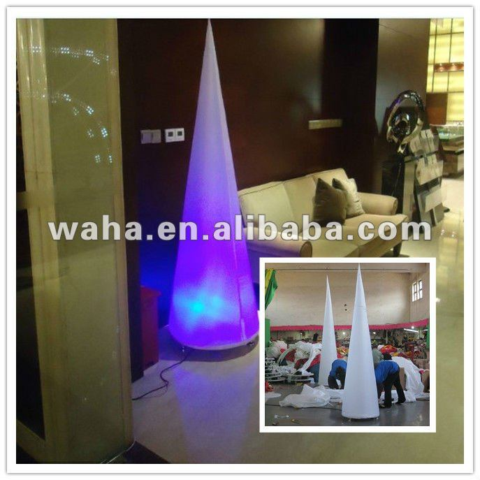 inflatable cone which have special revolved base for 2012 outdoor decdration