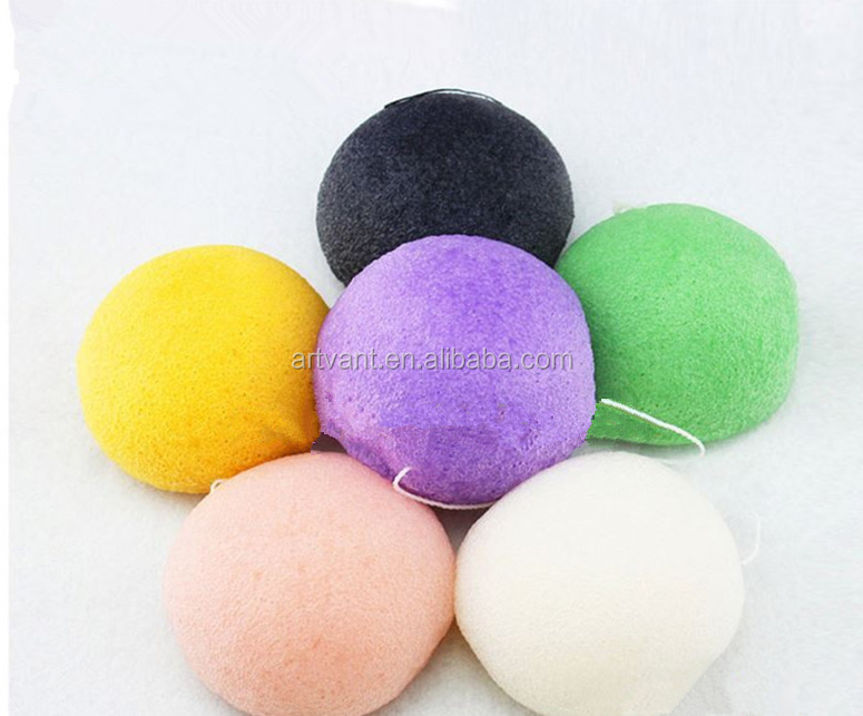 Facial Cleansing Bamboo Activated Charcoal 100% Natural Konjac Sponge Wholesale Private Label Organic Konjac Sponge
