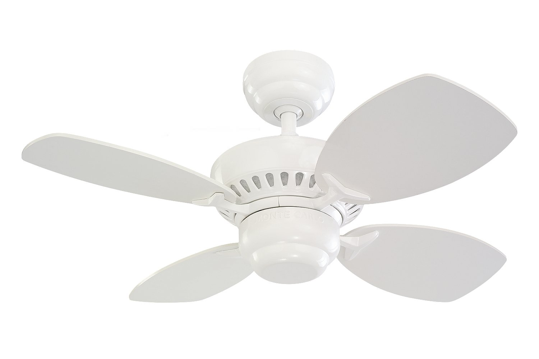 "Monte Carlo 4CO28WH Colony II Ceiling Fan, 28"", White"