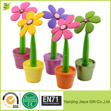Wholesale Cheap Promotion Sunflower Design Silicone Ballpoint Pen