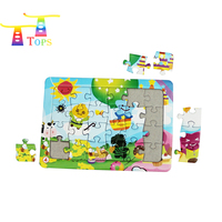 handcrafted toys wood puzzle child toys sets jigsaw puzzle