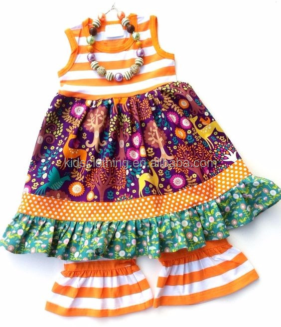 2017 little girls boutique remake clothing sets wholesale children clothing usa baby ruffle clothes