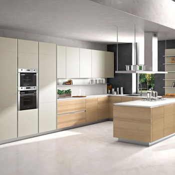Modern Champagne Color Kitchen Cabinets Mixed Woodgrains Buy Champagne Kitchen Cabinet Lacquer Kitchen Cabinet Woodgrain Kitchen Cabinets Product On