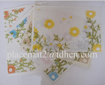 Factory Customized Recycled Paper Placemats /table Mat/round Paper ...