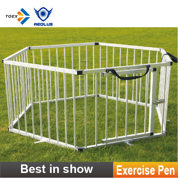 EP-HEX Aluminum Hexagon Dog Exercise Pen Cage Pet Play Pen