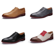 YINZO Shoes Italian Leather Handmade Genuine Leather Men Casual Shoes Male Brogues Oxfords Manufacturer