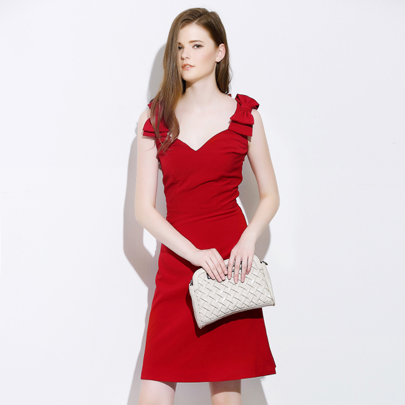 4892243bf0d Get Quotations · Brand Fashion Designer Runway Dress 2015 New Arrivals Women  Dress Elegant Cute Bowknot Backless Red Sexy