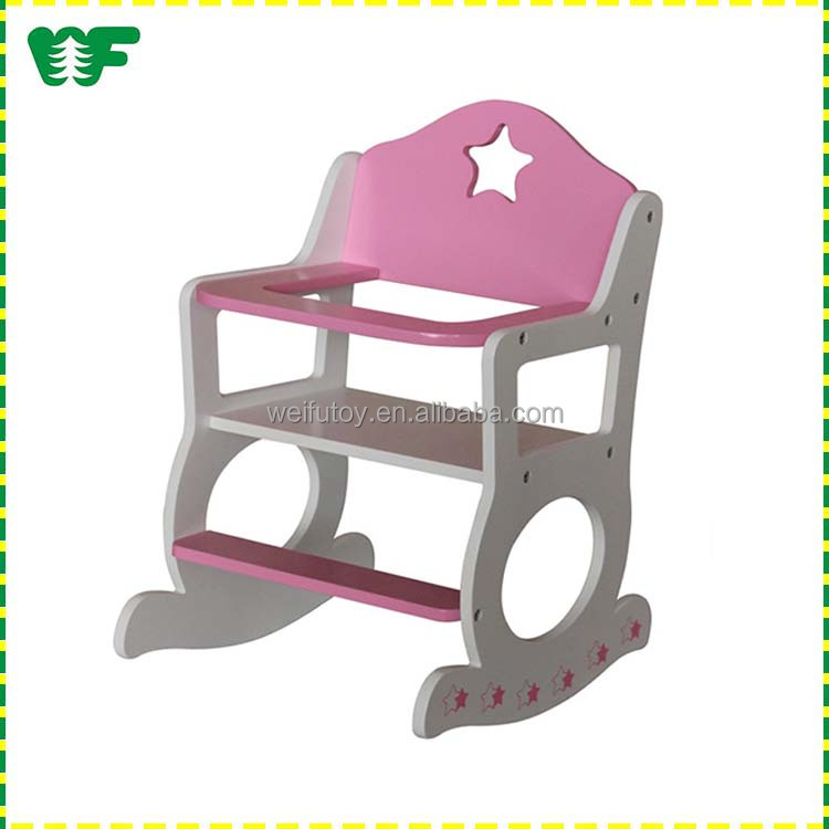 High quality wooden professional kids doll rocking chair