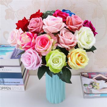 K7602 Mariage En Vrac Pas Cher Blanc Rose Fleur Artificielle En Gros , Buy  Fleur Artificielle En Gros De Mariage,Fleurs Artificielles En Vrac,Fleur