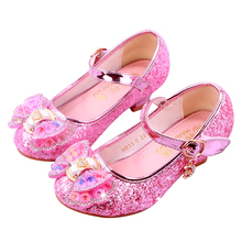 Custom Logo Girl Princess Frozen Crystal Dress Shoes