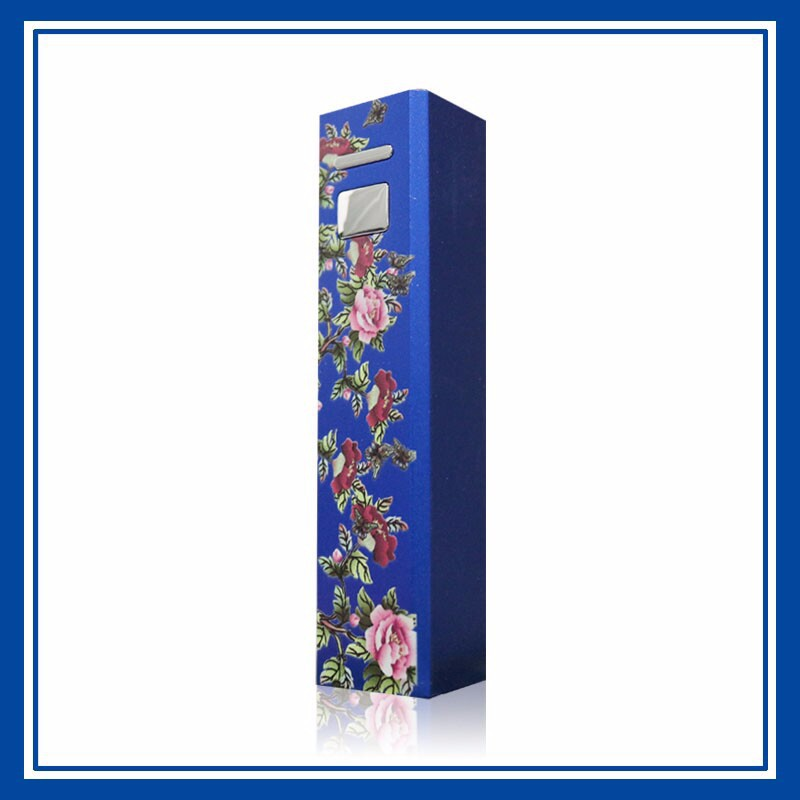 Stylish Crystal Pattern 2600mAh Power Charger Battery Bank for Various Cell Phones and Digital Devices