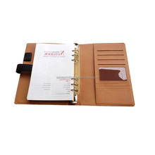 Customised Printed embossed cover notebooks diary with hidden wire-o binding