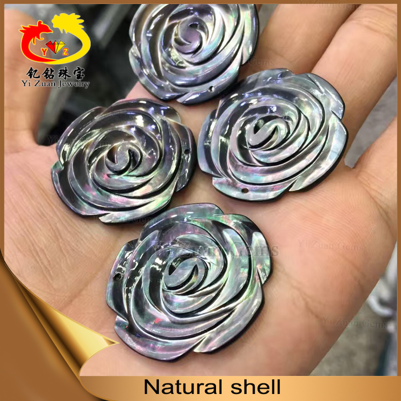 Special customized rose shape nature shell material processed products
