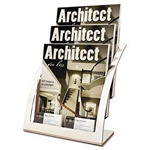 "Deflect-O - Three-Tier Magazine Holder 11-1/4W X 6-15/16D X 13-5/16H Silver ""Product Category: Desk Accessories & Workspace Organizers/Literature Display Racks & Holders"""