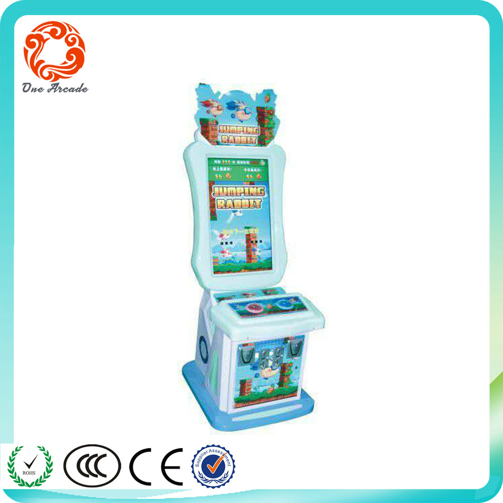 coin operated kids quiz video game machines for game center