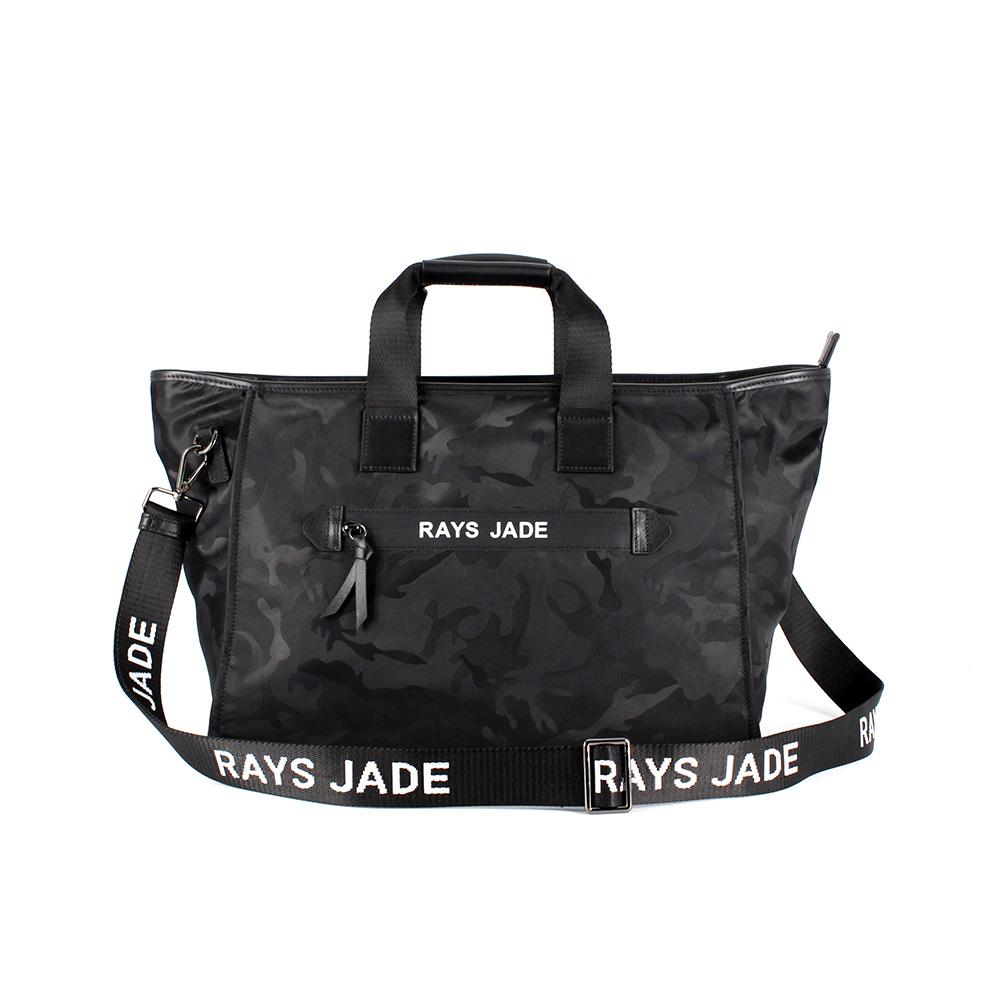 2019 Grande capacité mode camouflage noir en nylon imperméable weekender fourre-tout sac femmes