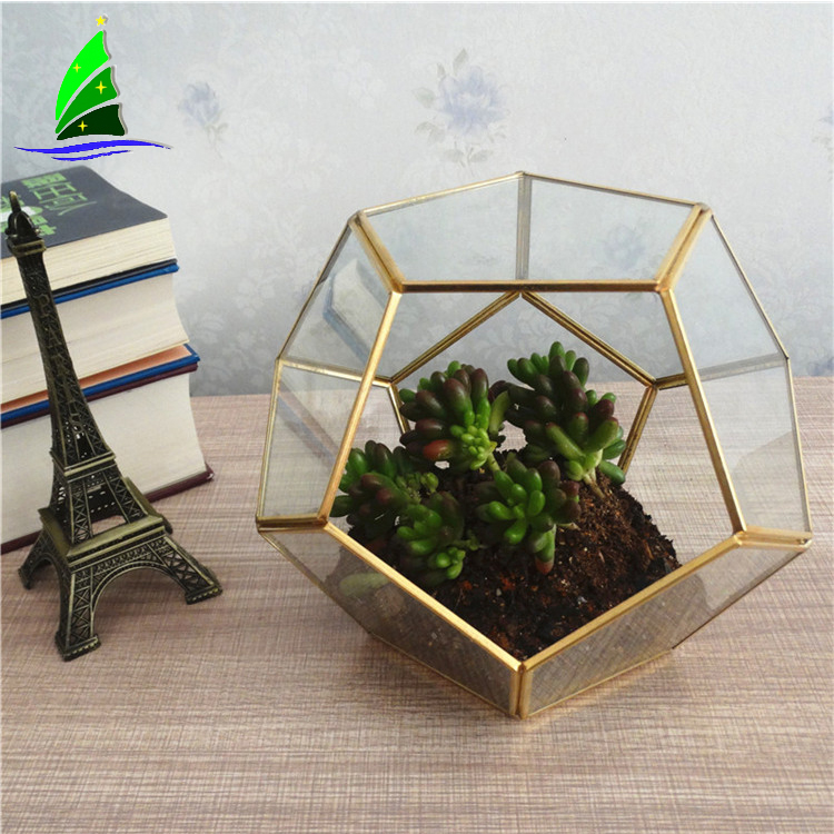Artdragon home decoration glass house hexagon terrarium for sale