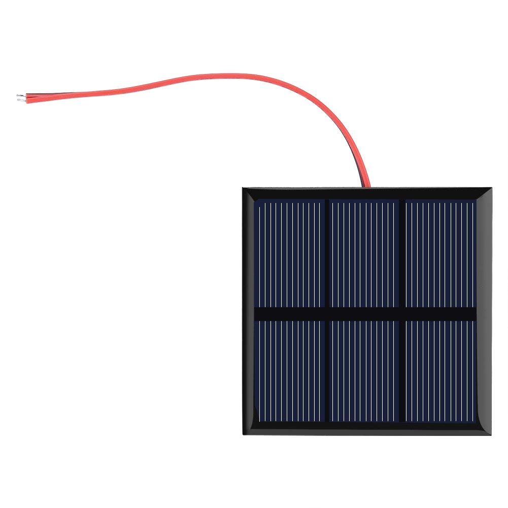 Yosooo 0.7W 1.5V Mini Portable Solar Cell Panel DIY Power Module Charger for 1.2V Battery with Wire 7070MM
