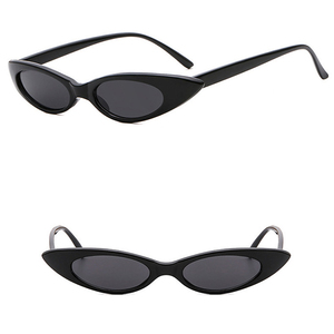 DLL3276 Small Oval Fashion Glasses Water Drop Shape Sunglasses with Metal Hinge