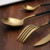 18-10 Stainless Steel Copper Black Handle Cutlery for Wedding Event Restaurant