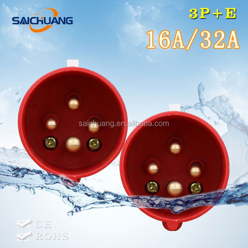 Factory Direct 3p+e industrial plug ce certificate isolating switch marine plug socket multifunctional power socket