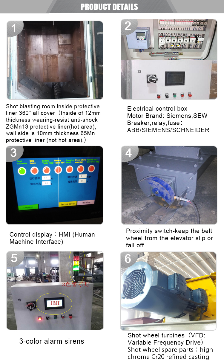 Manufacturing machinery price standard size steel hex bolt and nut tumble shot blasting machine