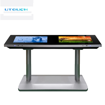 Conference or coffee or restaurant big smart interactive multi touch screen table