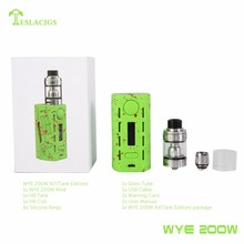 2017 NEW Design starter kit Tesla WYE 200 w vape mod high powerful for wholesaler
