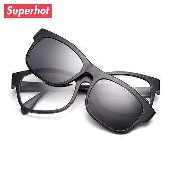 9af439849 Superhot Desportivo TR90 Armações de Óculos com Ímã Clip On Óculos ...