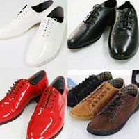 mans fashion lace-up oxford casual comfortable shoes