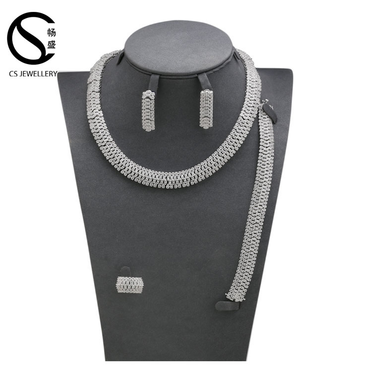 S16327 2017 Unique design accessories jewellery Rhodium Plated women necklace jewelry