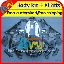 Stock black 8Gift+Tank For YAMAHA YZF600R 2002 2003 2004 96-07 HM51 YZF 600R 600 YZF600 R 2005 2006 2007 Fairing black white
