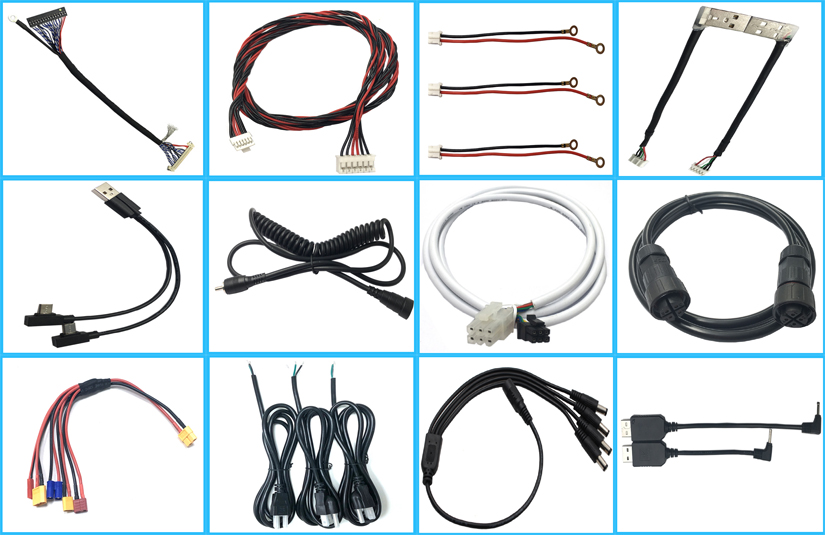 dc5.5*2.1 male and female to open end with lock waterproof cable