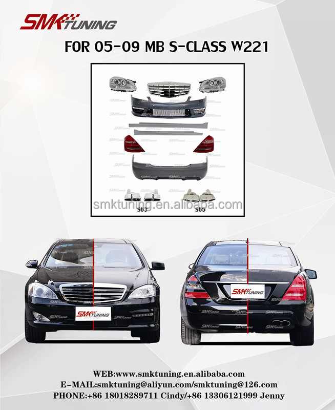 Para 05-09 CLASSE S W221 Car Atualize A-MG Modelo Body kits, Material PP