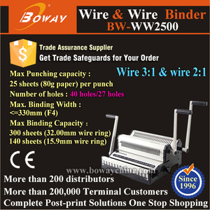 Wire 3:1 and Wire 2:1 paper sheets booklet calendar binding machine