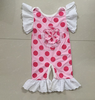 2016 Ruffles Baby Girls Jumpsuit Summer Polk Dots Halter Cotton Rompers Toddler Bodysuit For Kids