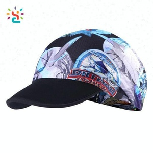 Promotional High Elastic Band Hair Visor Cap Folding Dry Fit GYM Cycling Hats Custom Logo Performance Hat