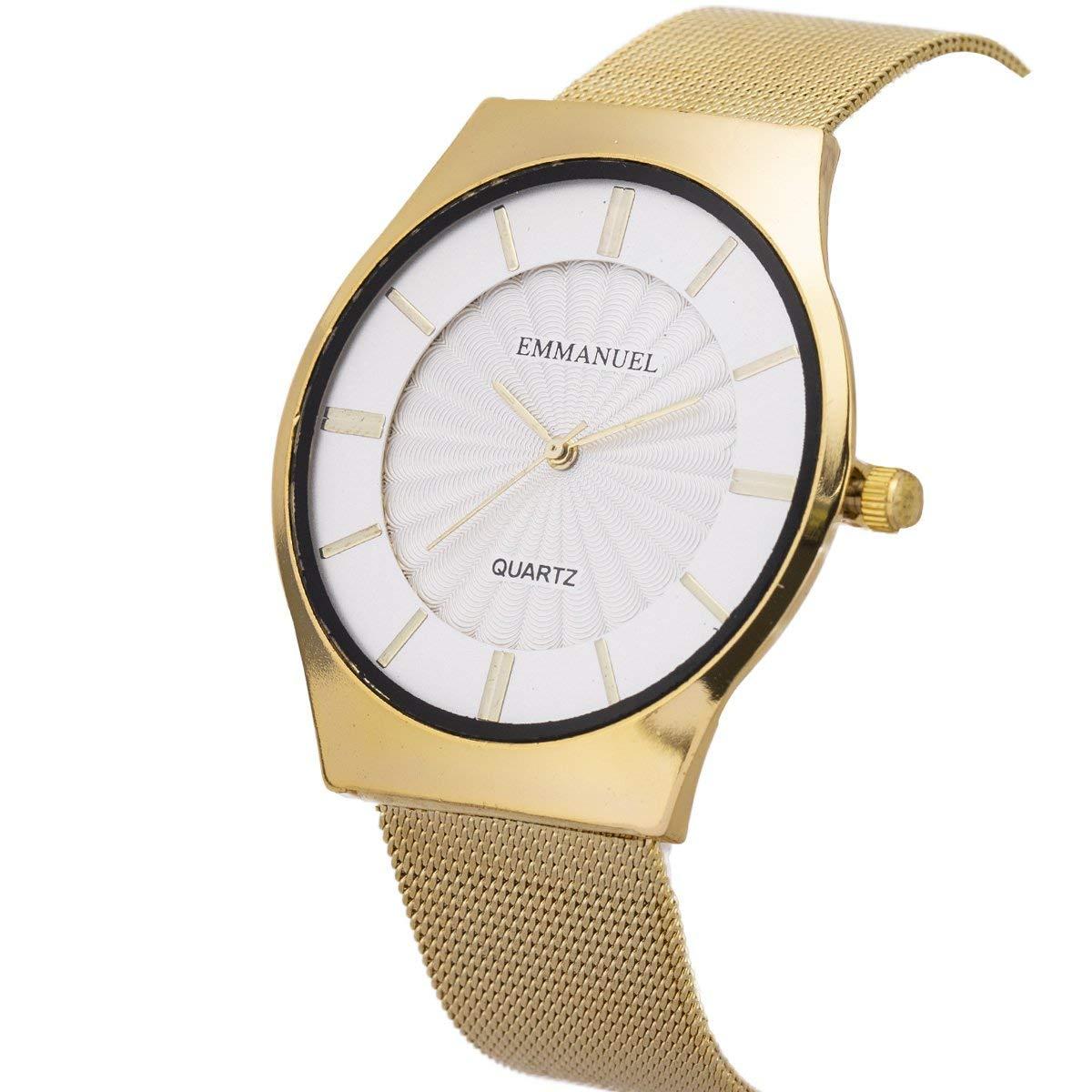 Wrist Watch Men Ultra-Thin Minimalist Mesh Stainless Steel Band SIBOSUN Quartz Analog