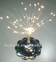 2012 Warm White Battery powered base mini led tree , light for christmas
