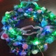 Handmade LEDs String Lights Rose Flowers Leaf Garland Copper 2M 20 Leds Beads Lamp Wedding Party Garden Fairy Holiday Decoration