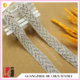HC-7584 Hechun sliver beaded crystal rhinestone trimming
