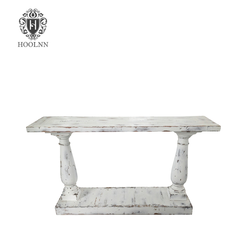 Distressed White Console Table Hl291w French Reclaimed Wood Furniture Recycled Product On Alibaba