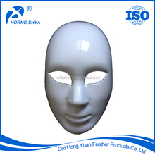 Horng Shya Factory CM-1003/1 High Quality For Halloween Carnival Party Decoration White Full Face Custom Plastic Mask