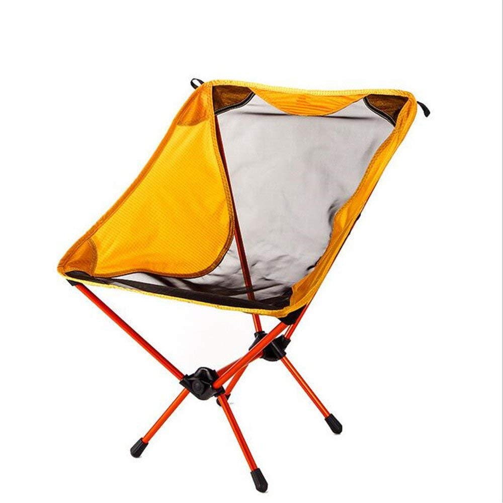 ARAYACY Outdoor Folding Chair Aviation Aluminum Camping Barbecue Ultra Light Portable Simple Chair
