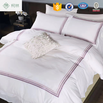 Charmant Hotsale Apartment Use Wheat Embroidered Cotton Bed Linen Used Bed Sheets