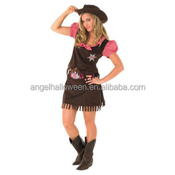 Western Cowgirl Hat Ladies Fancy Dress Wild West Cowboy Womens Adults Costume AGC4172  sc 1 st  Alibaba : lady cowboy costume  - Germanpascual.Com