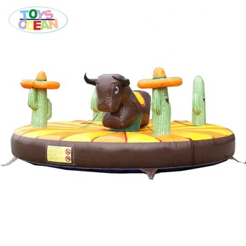 interactive sport games inflatable bungee bull for kids western cow boy