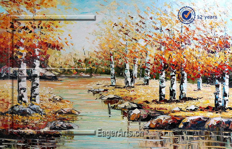 Wholesale Handmade Natural Canvas Acrylic Landscape Oil Paintings On Canvas