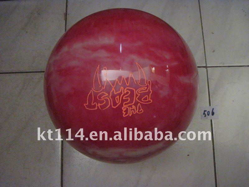 branded urethane clear bowling ball